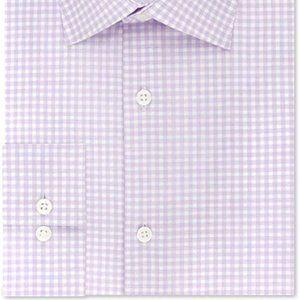 Michael Kors Slim Fit Dress Shirt White Purple XL